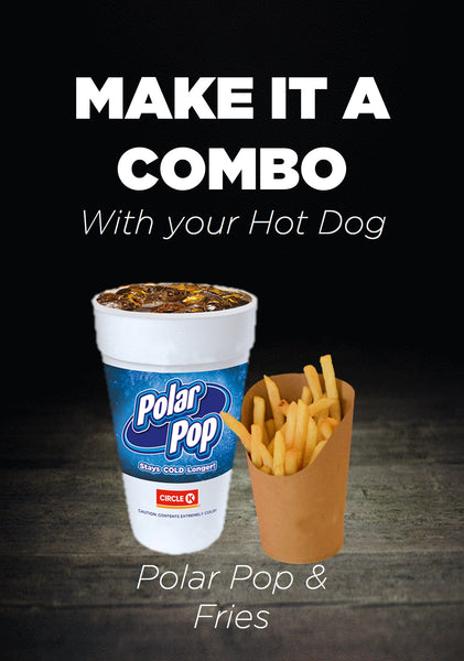 Make it a Combo: Flamin Mexican Hot Dog, Soda with Fries or Hashbrown