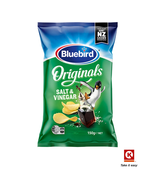 Bluebird Orig Salt&Ving 150g