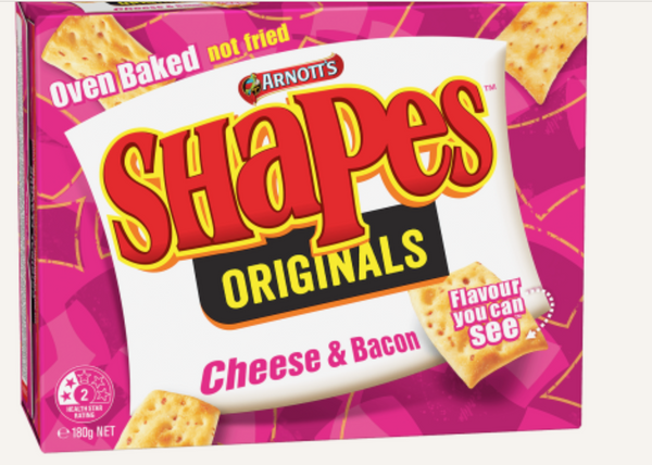 Arn Shapes Chse & Bacon 180g