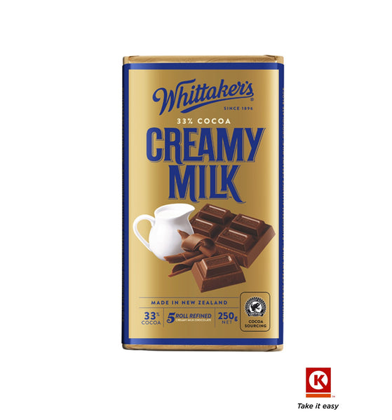 Whittakers blk crmy Milk  250g
