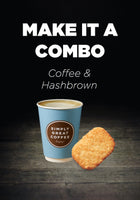 Upsize Combo to Espresso Coffee & Hashbrown