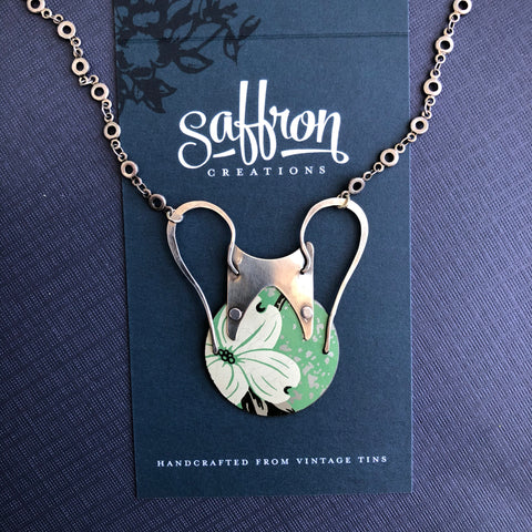 Urn Necklace *PREORDER*, Silver Dogwood