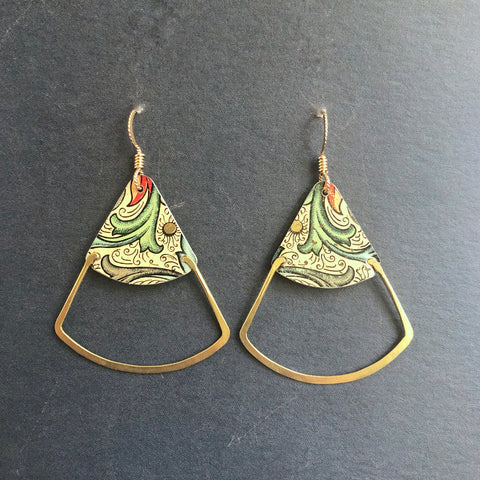 Florentine Deco Fan Earrings