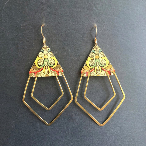 Florentine Deco Ray Earrings