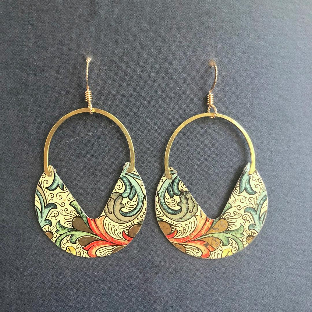 Egyptian Revival Earrings, Large