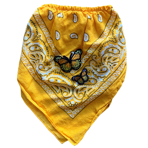 Yellow Butterfly Bandana