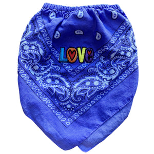 Blue Love Bandana