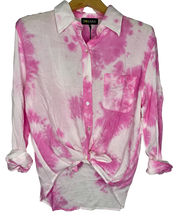 Love Tie Dye Button Down Shirt