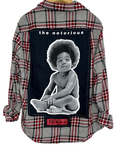 BABY BIGGIE SMALLS NOTORIOUS BIG VINTAGE ROCK FLANNEL SOJARA