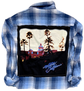 Eagles Hotel California Version 2 Vintage Rock Flannel