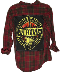 Nirvana Guitar Vintage Rock Flannel