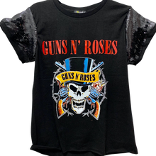 Guns N' Roses Skulls Sequin Sleeve Tee