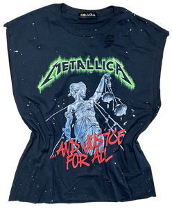 Metallica Patched Rock Tee