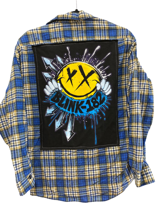 Blink 182 Vintage Rock Flannel
