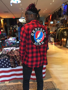 Grateful Dead Steal Your Face Vintage Rock Flannel
