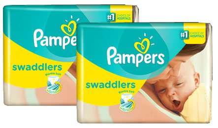 Pamper Swaddlers Diapers, Size 1 Two Pack (40 Diapers)