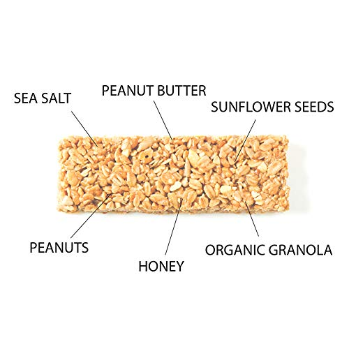 LENKA BAR Granola Bar - Peanut Butter with Sea Salt. 12 Pack | Organic Granola | Handmade, Gluten Free, Dairy Free, Soy Free, Kosher Certified | Protein | Honey
