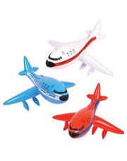 "1 DOZEN 24"" Inflatable AIRPLANES/Jet/747/INFLATES/PLANE/Birthday PARTY DECORATIONS Favors/Decor/"