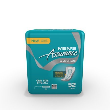 Assurance Guards for Men, Maximum, One Size Fits All, 52 Ct (pack of 2)