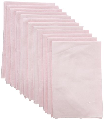 Clips N Grips Birdseye Flatfold Cloth Diapers, 24 Count (Pink)