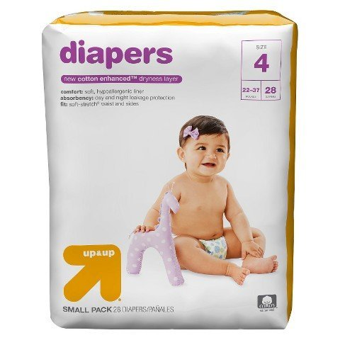 Up & Up Diapers (Size 4 (28 Count) 22-37 lbs)