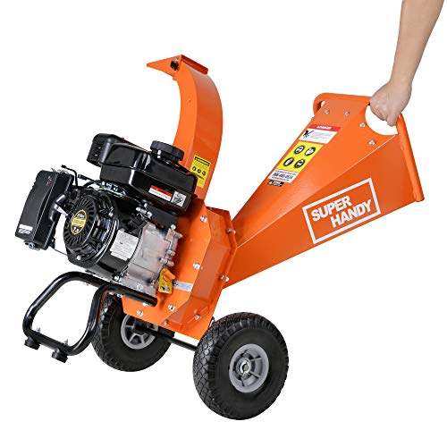 "SuperHandy Wood Chipper Shredder Mulcher Mini 7HP 3"" Inch & Electric 15Amp Wood Chipper (7HP Mini-Wood Chipper)"