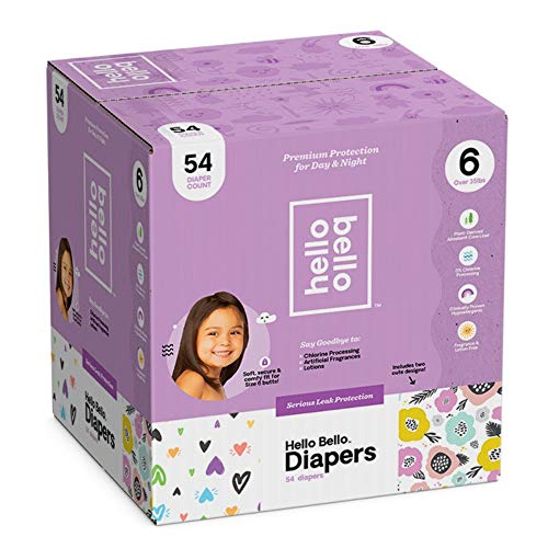 Hello Bello Diapers Club Box - Be Still My Hearts/Spring Blooms (Size 6, 54 ct)
