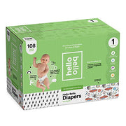 Hello Bello Diapers Club Box - Bolt Babes/Engine Revvers (Size 1, 108 ct)