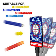 (2019 Updated Edition)Electric digital target for Nerf Guns,Scoring Auto Reset Nerf Target for Shooting with Wonderful Light Sound Effect for Nerf Guns Blaster N-Strike Elite/Mega/Rival Series