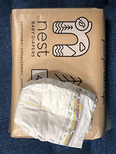Nest Baby Diapers; Size 4: 22-37 lbs. 120 Count case– Premium Eco Diapers for Sensitive Skin, Made of Sustainable Plant Based Materials, and Fragrance Free