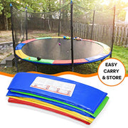 1INCH 15FT Trampoline Pad Colorful Jumpking Trampoline Pad Replacement Safety Pad PVC Foam Waterproof Round Spring Cover (Colorful, 15 FT)