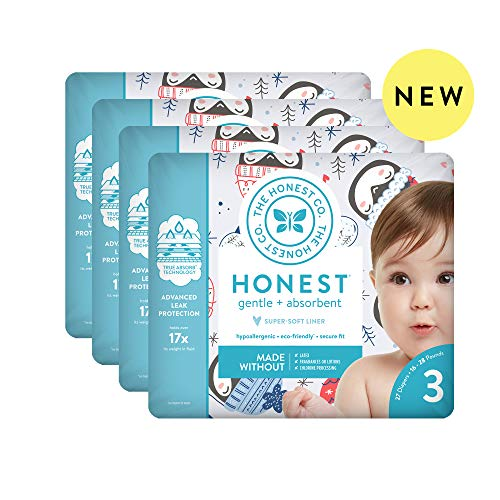 The Honest Company | Baby Diapers with Trueabsorb Technology | Winter Wonder | Size 3 | 108Count