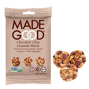 MadeGood Chocolate Chip Granola Minis; 28 Count of Rich Dark Chocolate Chips and Gluten Free Oats