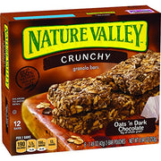 Nature Valley Granola Bars, Crunchy, Oats and Dark Chocolate, 12 Count, Pack of 6