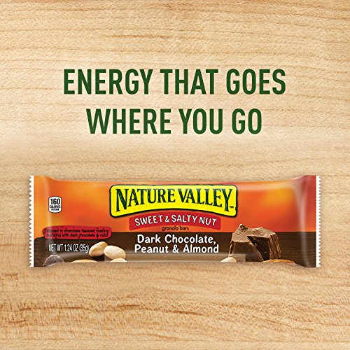 Nature Valley Granola Bars, Sweet and Salty Nut, Dark Chocolate Peanut & Almond, 6 Bars,7.44 oz (Pack of 6)