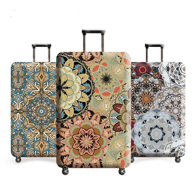 Vintage Floral Travel Luggage Protective Cover