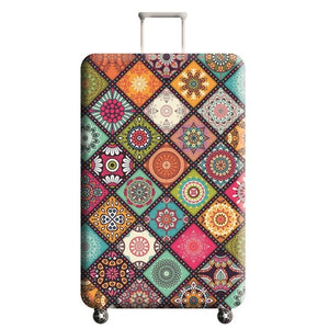 Vintage Floral Travel Luggage Protective Cover - Smart Arbs