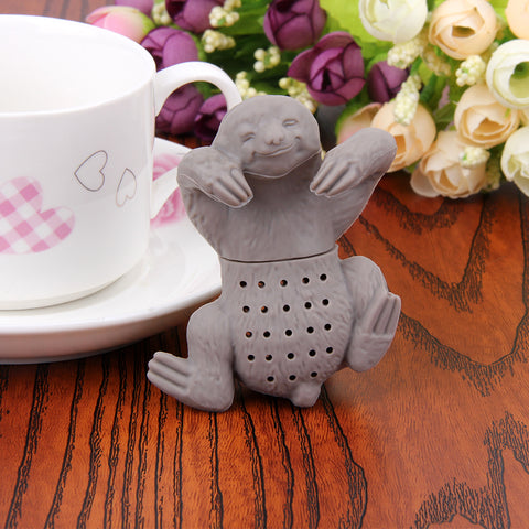 1Pc Teapot Cute Silicone Sloth Tea Infuser Tea Strainer Filter Silicone Sloth Tea Infuser for Drinking Coffee Tea Accessories