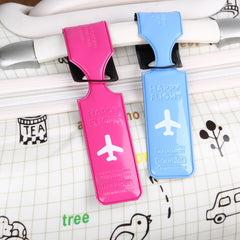Creative Travel Accessories Luggage Tag cover PU Leather Suitcase ID Address Holder Baggage Boarding Tags Portable Label