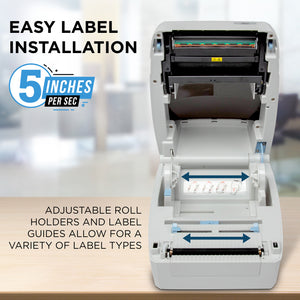 "BCL D100 Desktop Printer - Direct Thermal 4"" Printer - Label, Tag & Receipt Printing"