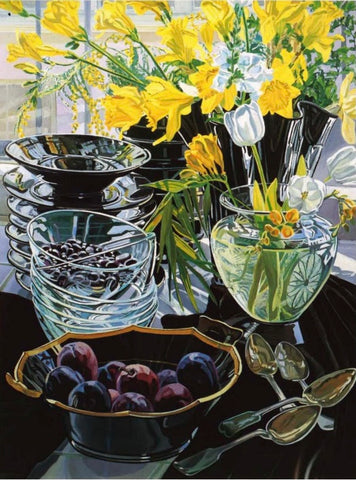 Black Vase with Daffodils, Janet Fish