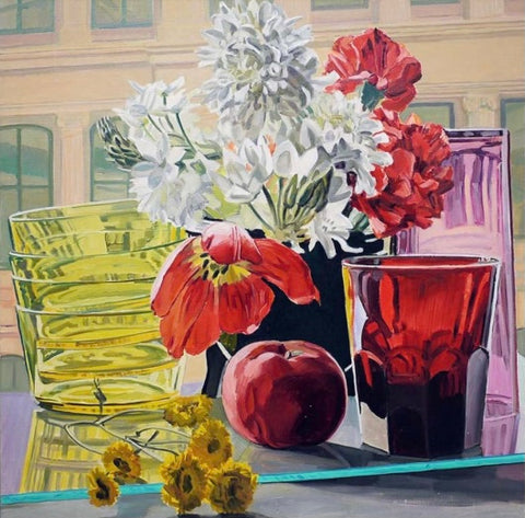 Tulip, Apple and Glass, 1980