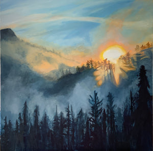 Sundance at Sunrise, 30 in. x 30 in.