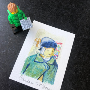 lego mini-fig portrait as Vincent Van gogh