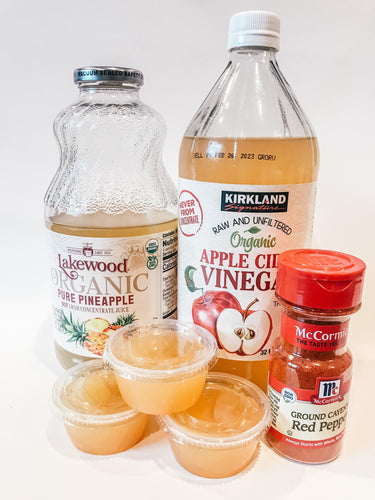 Apple Cider Vinegar And Pineapple Shot With Cayenne Pepper - Gourmet Method