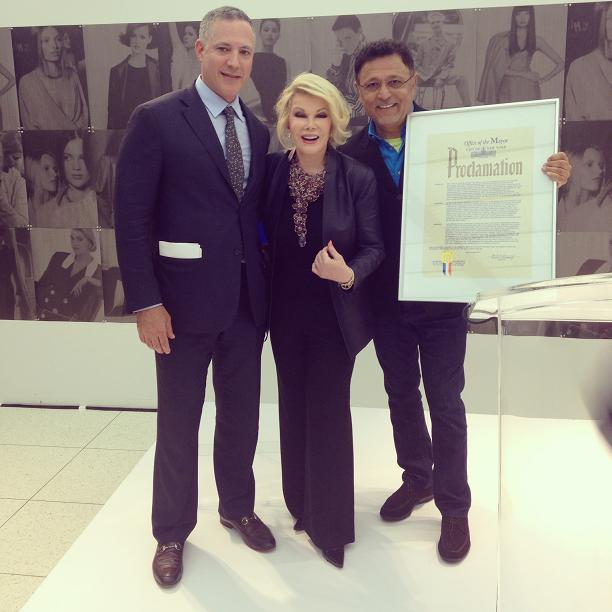 """Mayor Bloomberg proclaimed September 4th, 2013 """"Elie Tahari Day"""" honoring his 40 years in business."""