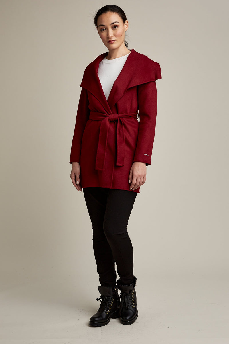 Tahari Ella Double Face Wool Coat