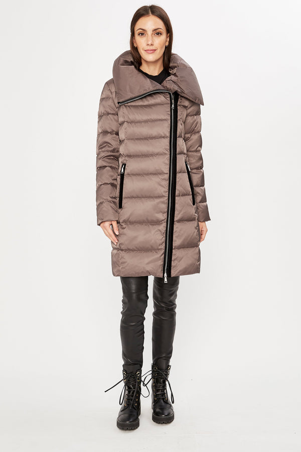 Tahari Brooklyn Asymmetrical Down Coat