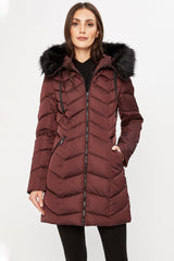 Tahari Gwen Fitted Puffer
