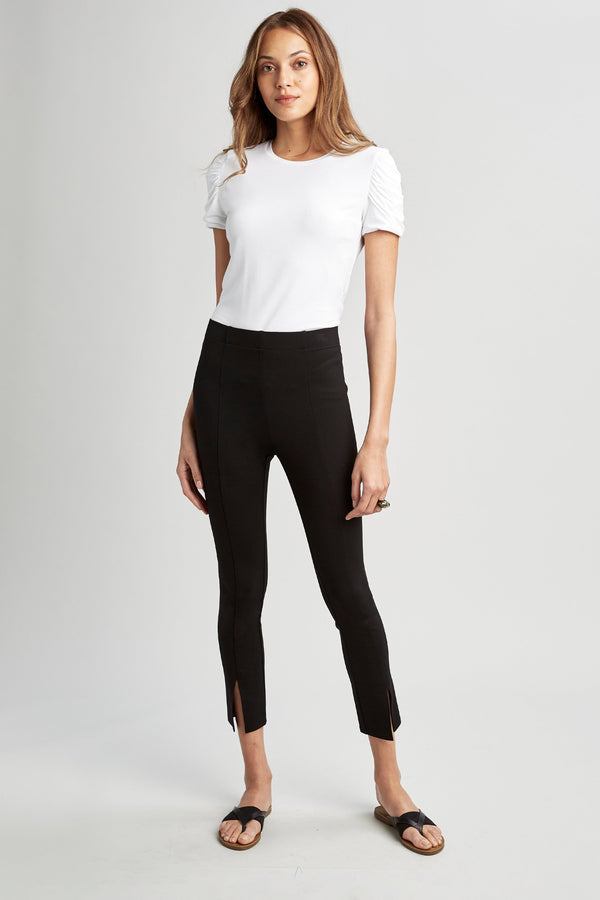 Cropped Slit Legging